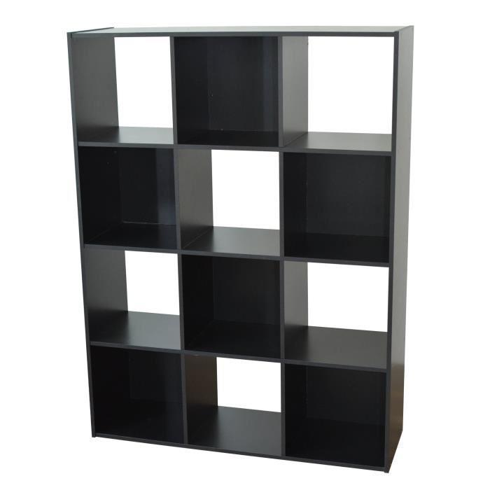 aucune compo cube 12 cases noir 247611. Black Bedroom Furniture Sets. Home Design Ideas