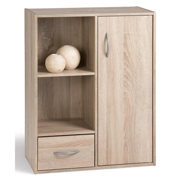 aucune compo cube 2 cases 1 p 1 t coloris chene 247621. Black Bedroom Furniture Sets. Home Design Ideas