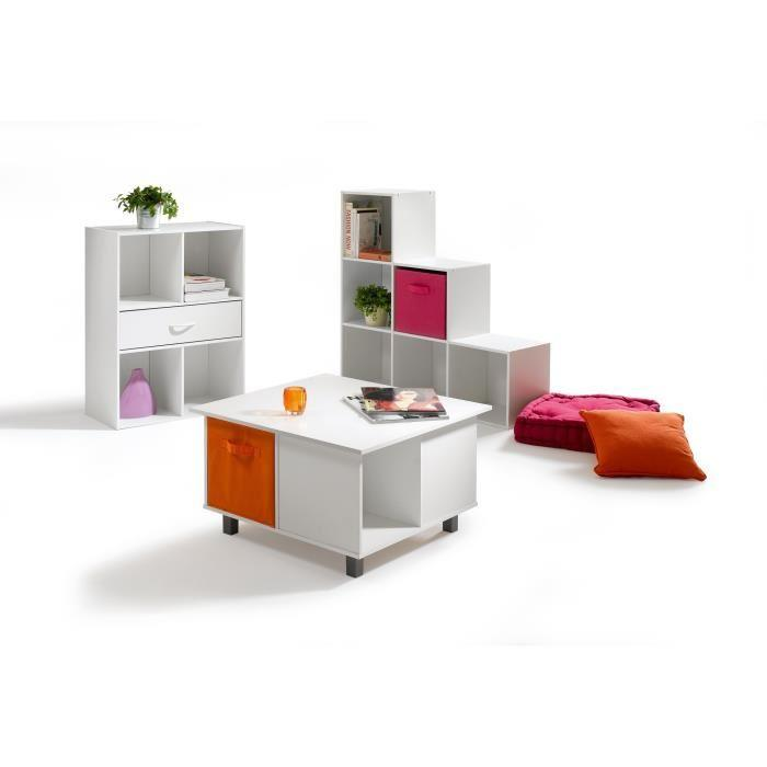 aucune compo cube 4 cases 1 tiroir blanc 281826. Black Bedroom Furniture Sets. Home Design Ideas