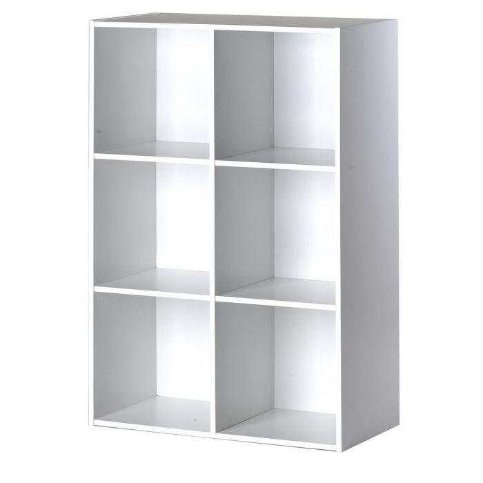 aucune compo cube 6 cases blanc 247623. Black Bedroom Furniture Sets. Home Design Ideas