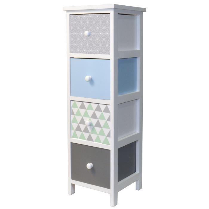 aucune compo cube 4 cases 2 portes coloris chene 247619. Black Bedroom Furniture Sets. Home Design Ideas