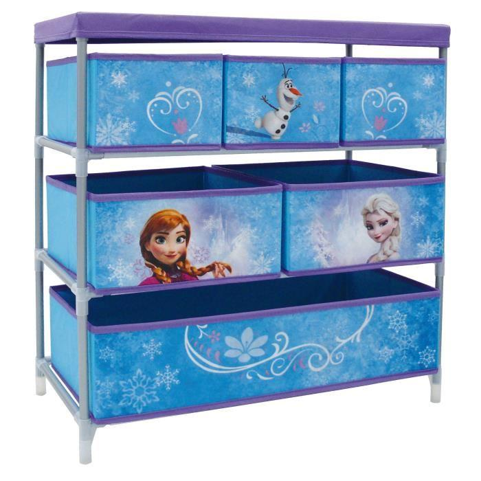 fun house la reine des neiges rangement 6 bacs 394799. Black Bedroom Furniture Sets. Home Design Ideas