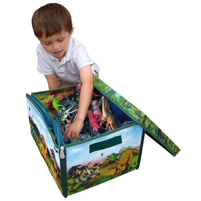 worlds apart dinosaure bo te de jeu et de rangement jouets zipbin 292327. Black Bedroom Furniture Sets. Home Design Ideas