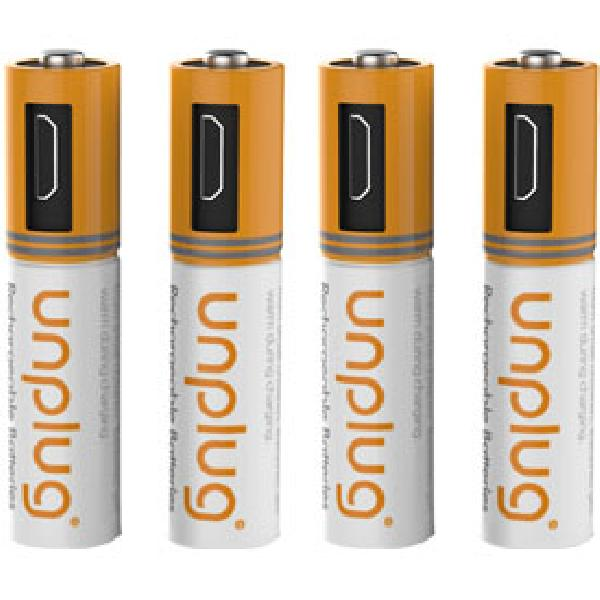 Piles Micro USB AAA LR03 UNPLUG -x4-