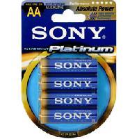 Piles pour sextoys ADNAutoMID - 4 Piles LR06 Platinum SONY