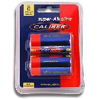 Piles pour sextoys Caliber - 2 Piles 1.5V LR14 Super Alkaline - 6500mAh