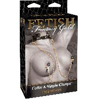 Pincer Pipedream - Collier et Pinces Fetish Fantasy Gold