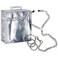 Pinces à seins LRDP - Chaine avec pinces et anneaux Bridle for him