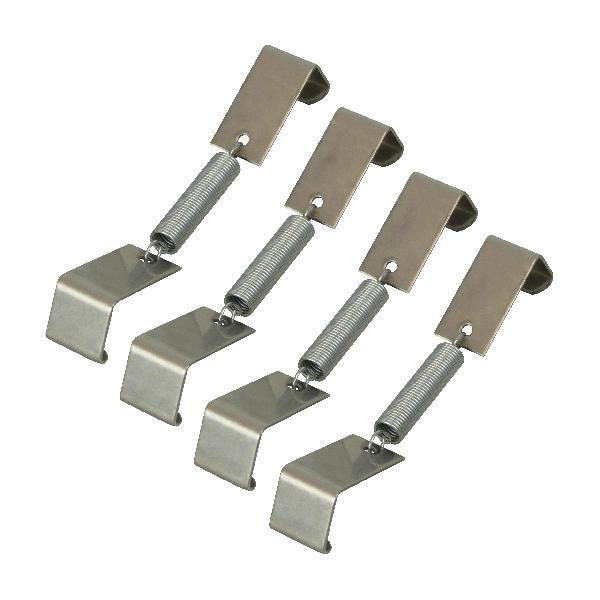 Pinces pour plaque immatriculation 4 pieces
