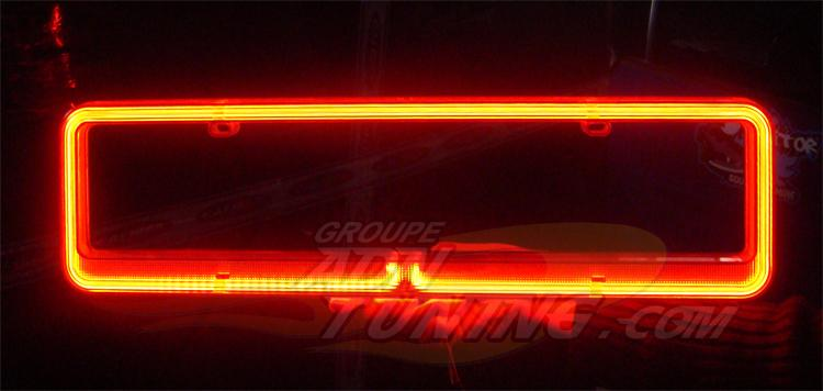 plaques immatriculation adnauto neon rouge na15rd. Black Bedroom Furniture Sets. Home Design Ideas