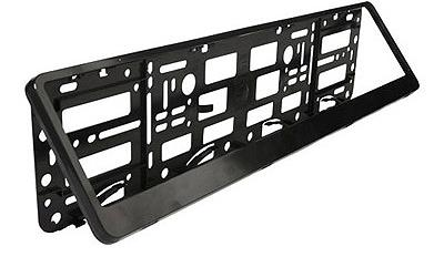 adnauto support de plaque euro clip noir 93810. Black Bedroom Furniture Sets. Home Design Ideas