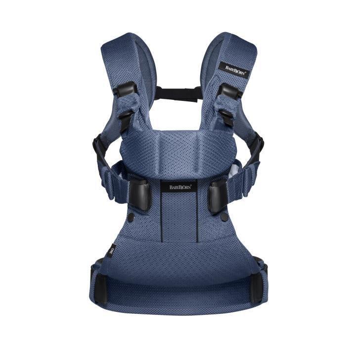 babybjorn babybjorn porte bebe one air bleu fonce mesh 336332. Black Bedroom Furniture Sets. Home Design Ideas
