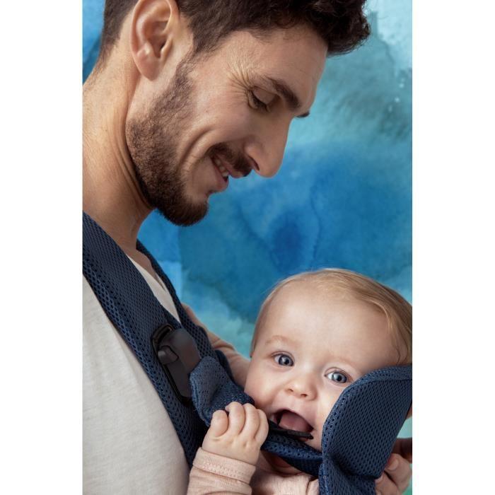 Babybjorn babybjorn porte bebe one air bleu fonce mesh for Porte bebe babybjorn