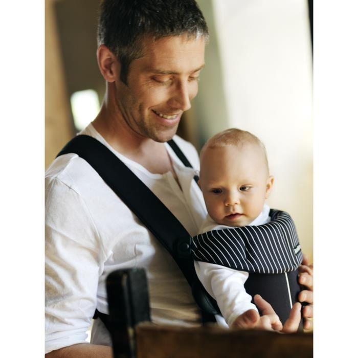 Babybjorn babybjorn porte bebe original noir rayures 266398 for Porte bebe babybjorn