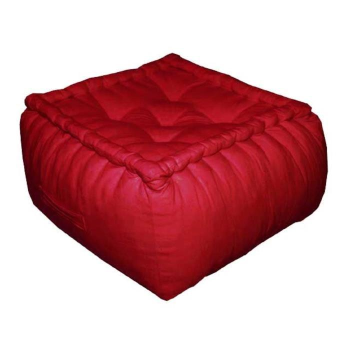 aucune coussin de sol en coton serge 40x40x30 cm rouge. Black Bedroom Furniture Sets. Home Design Ideas