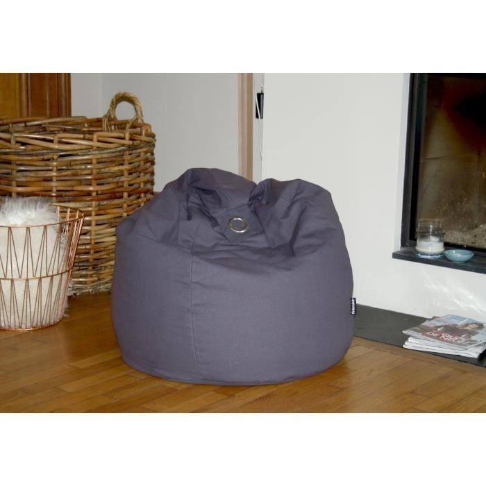 finlandek poire pouf hanko 100 coton 79x100 cm gris 349395. Black Bedroom Furniture Sets. Home Design Ideas