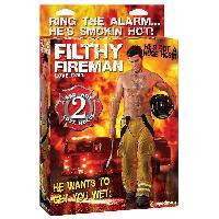 Poupees Gonflables LRDP - Poupee gonflable pompier Filthy Fireman