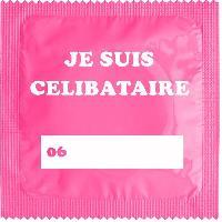 Preservatifs Callvin - 1 X preservatif Je Suis Celibataire Rose