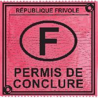 Preservatifs Callvin - 1 X preservatif Permis de Conclure