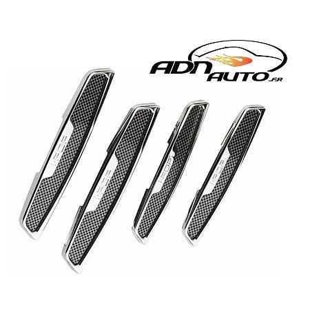 adnautomid 4 bandes protege portes look carbone 128822. Black Bedroom Furniture Sets. Home Design Ideas