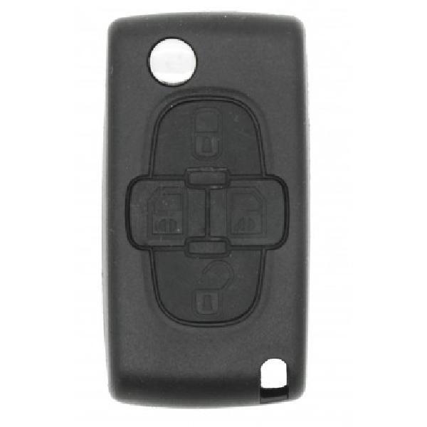 PSA407C - Coque + lame PSA 4 boutons [Voiture : Peugeot > 1007 (ap05)] [Voiture : Peugeot > 807 (02-