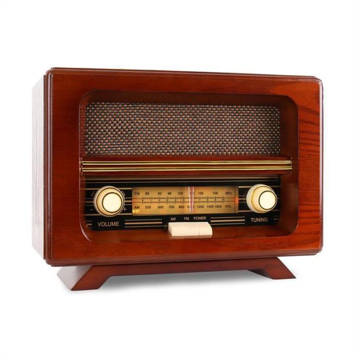 ricatech ricatech pr190 radio retro classique en bois am fm 399516. Black Bedroom Furniture Sets. Home Design Ideas