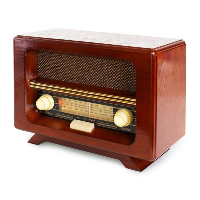 ricatech ricatech pr190 radio retro classique en bois am fm 399516. Black Bedroom Furniture Sets. Home Design Ideas