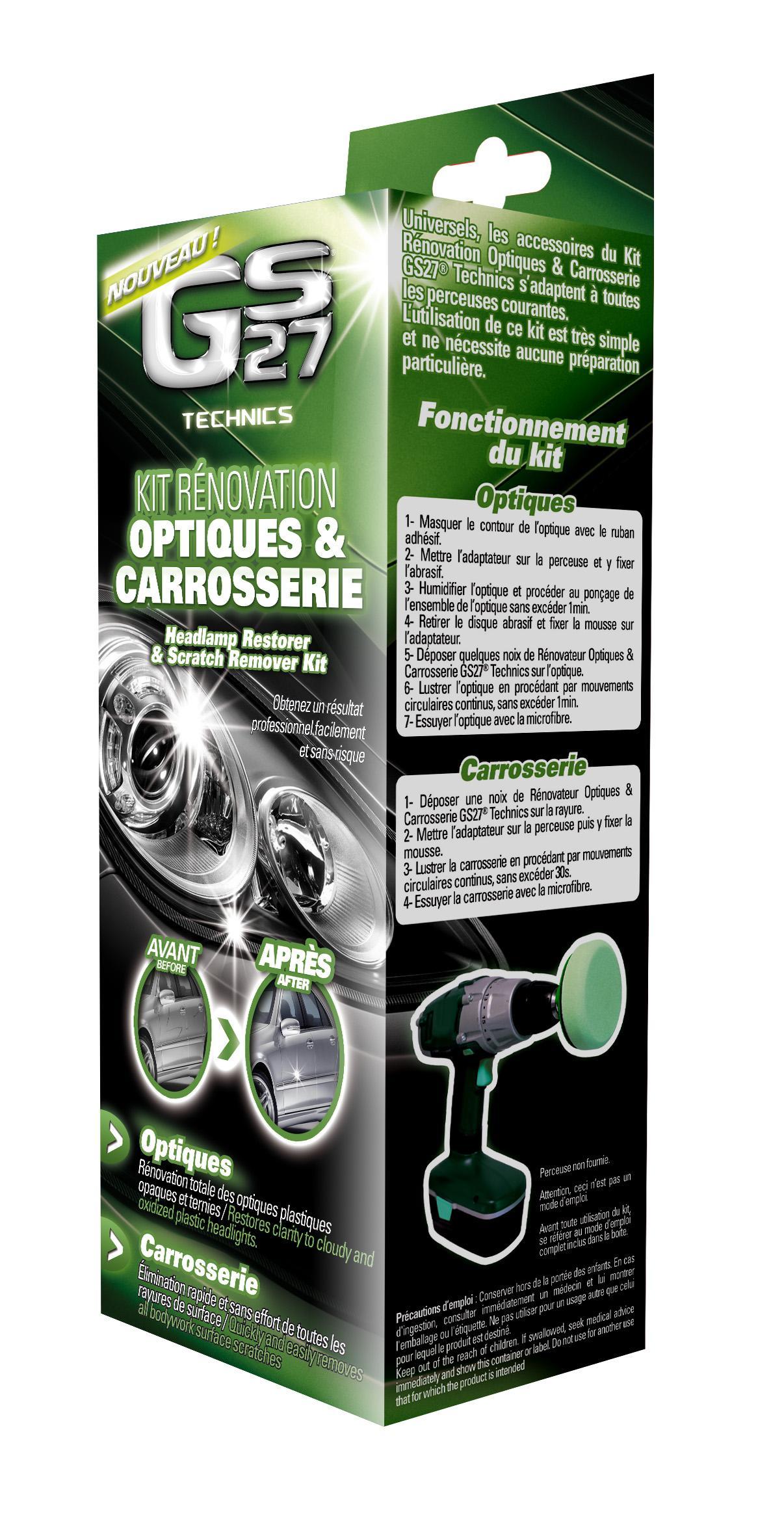 renovation et preparation gs27 kit renov phares. Black Bedroom Furniture Sets. Home Design Ideas