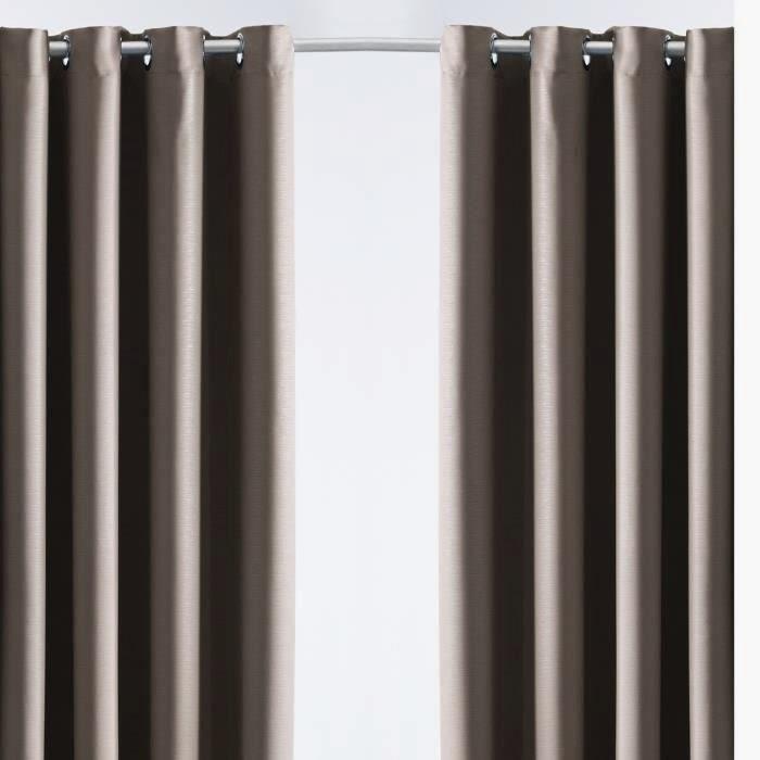Today today paire de rideaux isolant bronze 140x240 253395 - Rideau de porte isolant ...