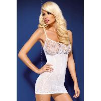 Robes resille LRDP - Robe blanche D204 - S-M - Obsessive
