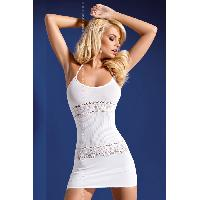 Robes resille LRDP - Robe blanche D307 - S-M - Obsessive