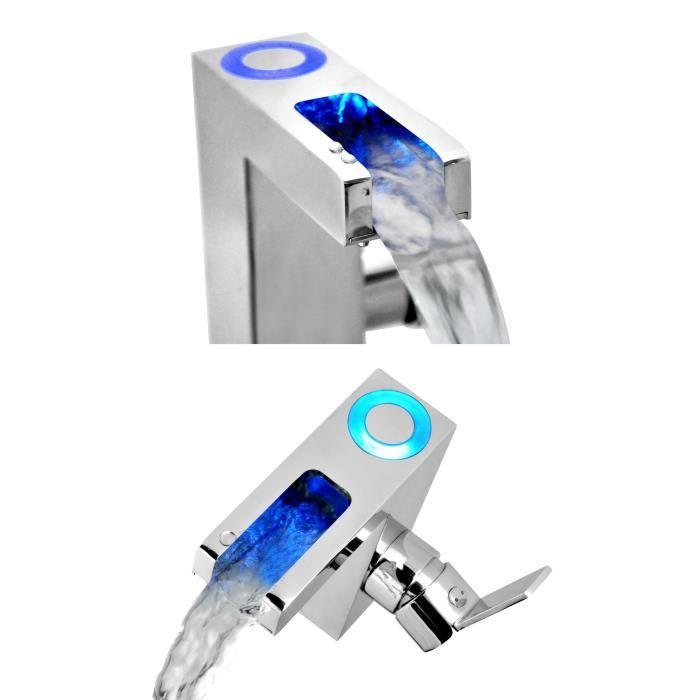 Sch tte orinoco mitigeur monocommande lavabo a del et bec - Cascade salle de bain ...