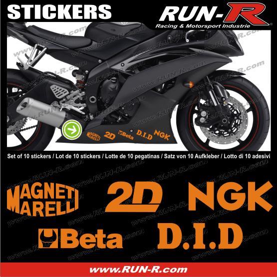10 stickers moto gp pour honda ducati yamaha orange adnauto 126730. Black Bedroom Furniture Sets. Home Design Ideas
