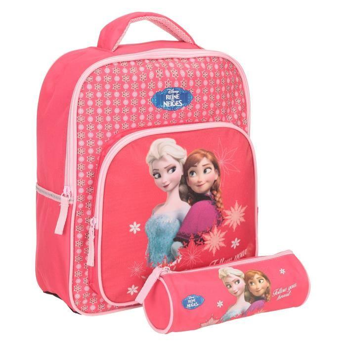 frozen sac a dos maternelle trousse offerte 1 compartiment 3 a 6 ans 30cm fuchsia. Black Bedroom Furniture Sets. Home Design Ideas
