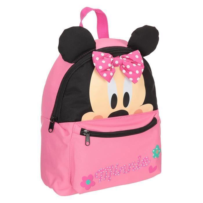 minnie sac a dos 3d scolaire maternelle 1 compartiment 3 a 6 ans 25cm rose enfant. Black Bedroom Furniture Sets. Home Design Ideas