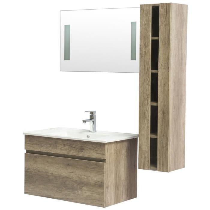 alban ensemble salle de bain simple vasque l 80 cm decor bois wenge 497313. Black Bedroom Furniture Sets. Home Design Ideas