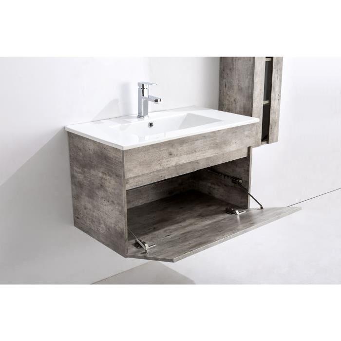 aucune alban ensemble salle de bain simple vasque l 80. Black Bedroom Furniture Sets. Home Design Ideas