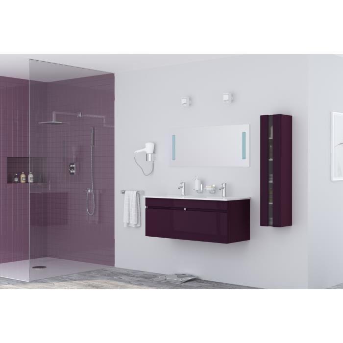 Alban salle de bain complete double vasque 120 cm laqu for Salle de bain compacte
