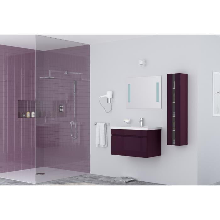 alban salle de bain complete simple vasque 80 cm laqu aubergine brillant 355326. Black Bedroom Furniture Sets. Home Design Ideas