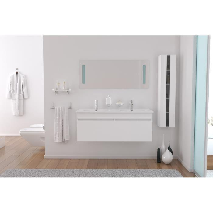 aucune alban salle de bain double vasque 120 cm blanc 264281. Black Bedroom Furniture Sets. Home Design Ideas