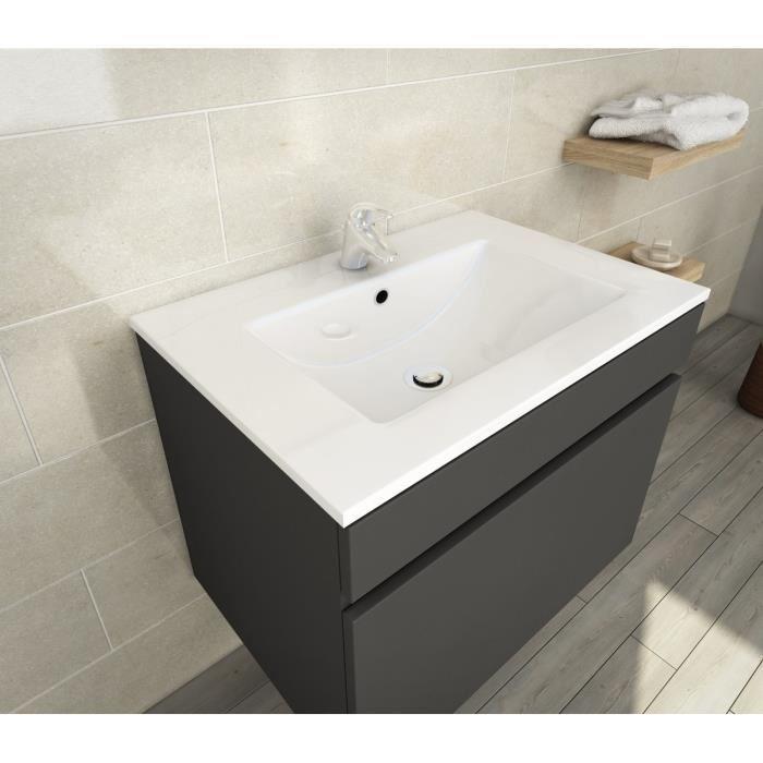 LANA Ensemble de meubles de salle de bain vasque miroir