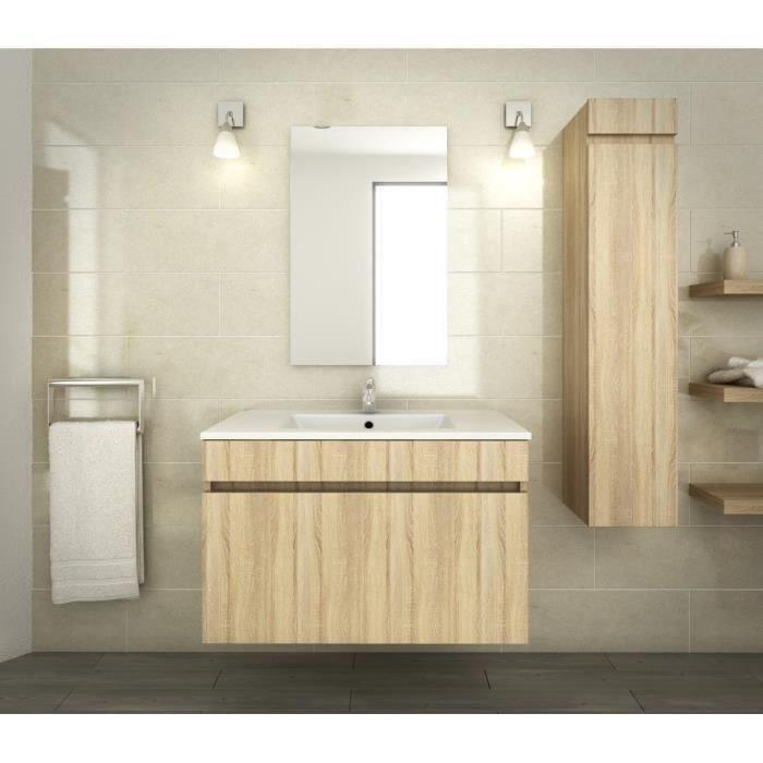 meuble salle de bain luna blanc
