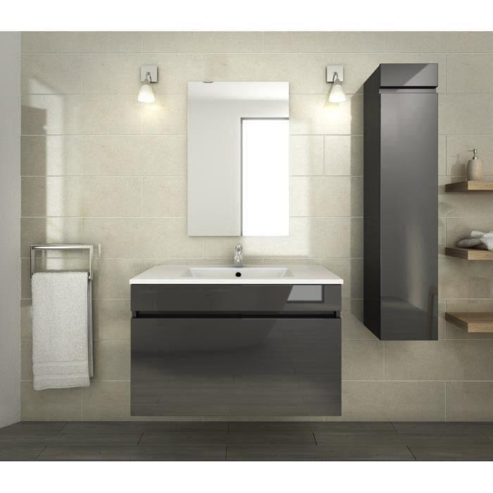 aucune luna ensemble de salle de bain 80 cm gris 273681. Black Bedroom Furniture Sets. Home Design Ideas