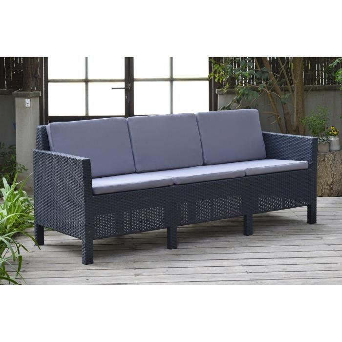 allibert deauville salon de jardin 4 pieces resine. Black Bedroom Furniture Sets. Home Design Ideas
