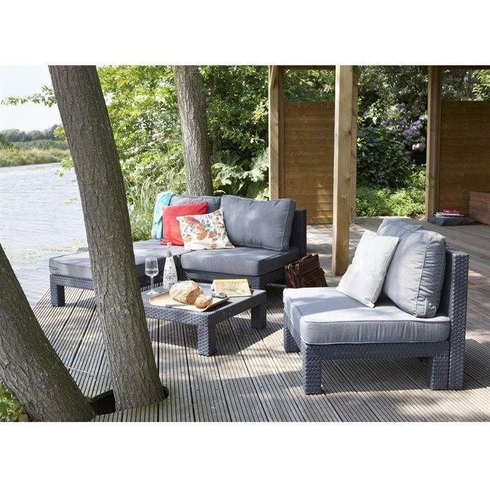 Allibert nevada salon de jardin aspect rotin tresse 266898 for Ensemble de jardin tresse