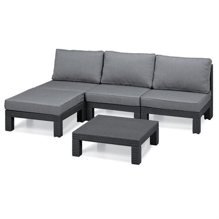 allibert nevada salon de jardin aspect rotin tresse 266898. Black Bedroom Furniture Sets. Home Design Ideas