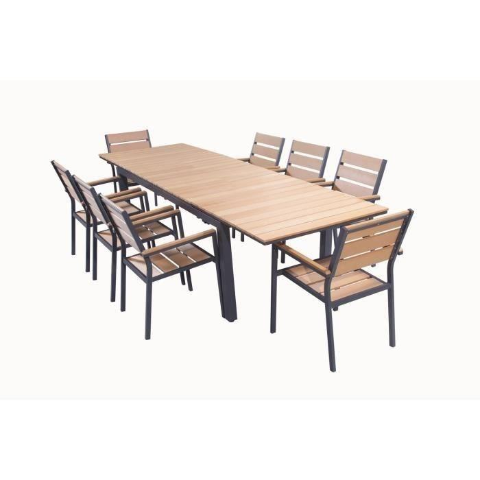 Best table de jardin extensible imitation bois images - Table de jardin extensible imitation bois ...