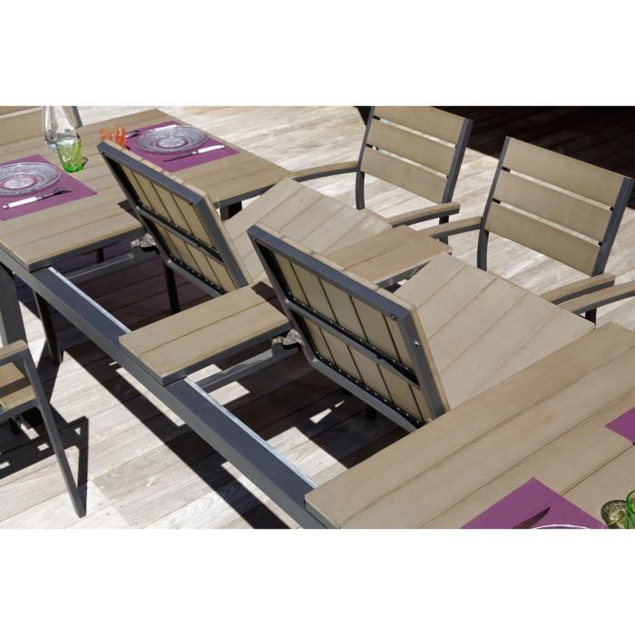 Salon de jardin ice proloisirs en aluminium - Maison mobilier et design