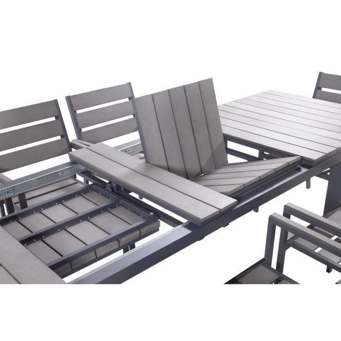 ensemble table extensible de jardin 200 250 300 cm 8. Black Bedroom Furniture Sets. Home Design Ideas
