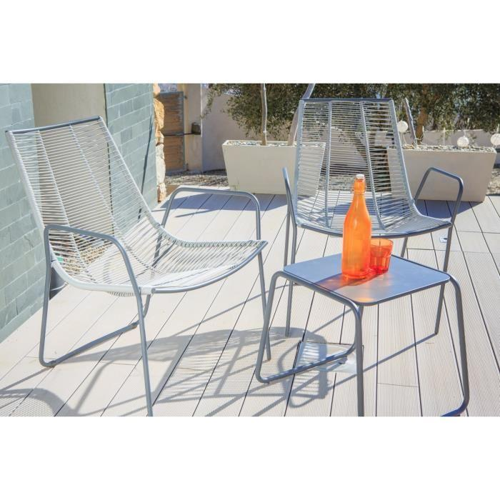 Awesome table et chaise de jardin resine tressee gris for Table et chaise de jardin en resine tressee gris
